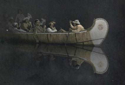 Arthur-Heming-canoe