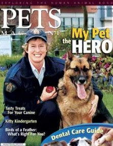 Cst Christina Hughes Tracer on cover of PETS Magazine